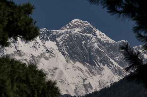 L'Everest depuis l'Everest view point avant Namche Népal -