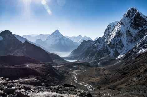 Vue sur L'arrivée à Dzongla - Népal -