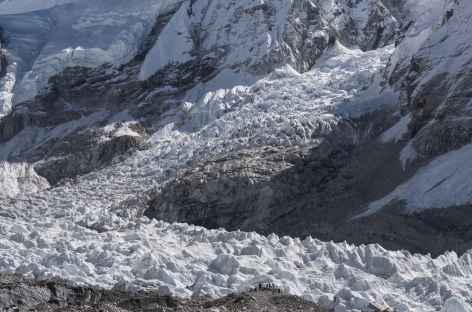 Le glacier vers le camp de base de l'Everest - Népal -