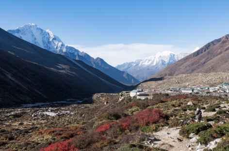Au départ de Dingboche vers Chhukung - Népal -