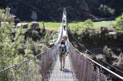 Pont suspendu Népal -