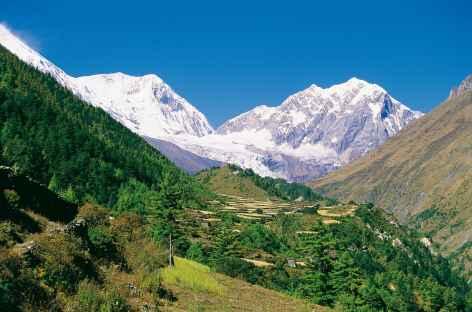 Première vue sur la Manaslu Nord - Népal -