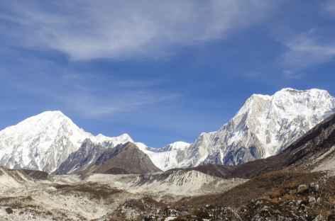 Les Péri Himal de la moraine de Bimthang - Népal -