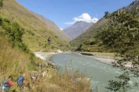 Sur les bords de la Buri gandakhi - Népal -