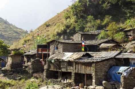 Hameau en montant vers Deng - Népal -