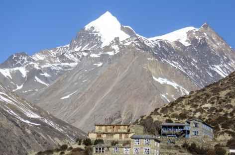 Thorung peak en montant vers Yak Karka - Népal -
