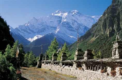Annapurna II en montant sur Gyaru - Népal -