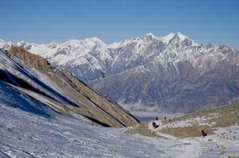 Descente du Thorong La - Népal -