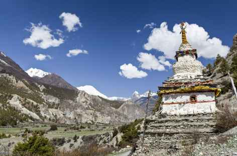 Retour dans la vallée vers Braga - Népal -