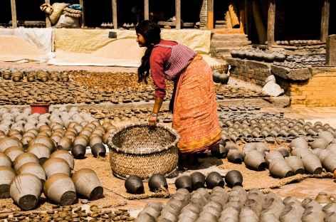 Place des Potiers à Bakthapur - Népal -