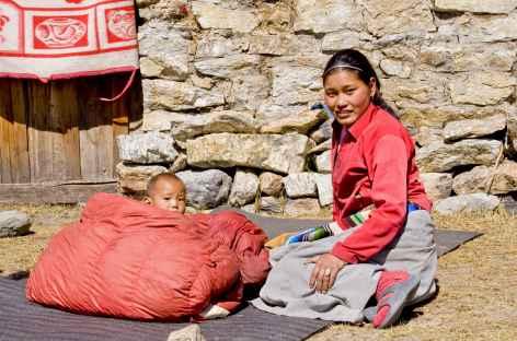 Au soleil par -10° Kangchenjunga Népal -
