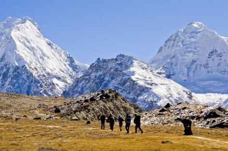 En direction de Pangpema - Kangchenjunga Népal -
