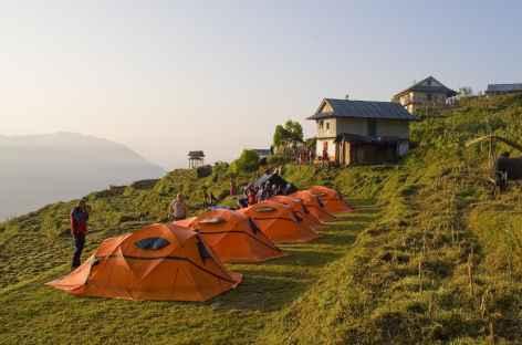 Camp près d'un village Kangchenjunga - Népal -
