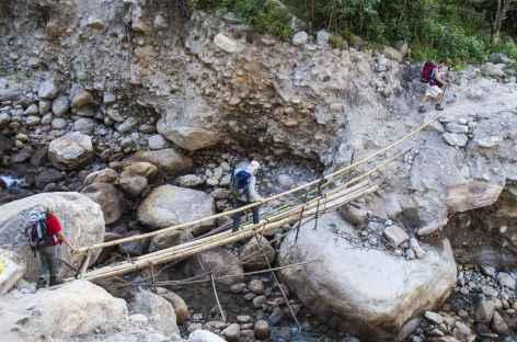Passage de pont - Kangchenjunga Népal -