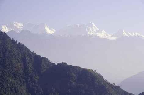 Vue sur le massif du Kangchenjunga Népal -
