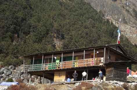 Lodge, région du Kangchenjunga - Népal -
