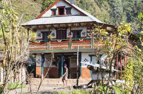 Maison Typique des vallées-  Kangchenjunga Népal -