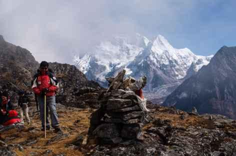 Arrivée au col - Kangchenjunga Népal -