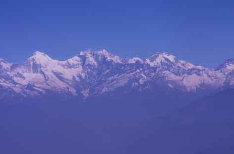 Vol le long du massif des Annapurnas - Népal -