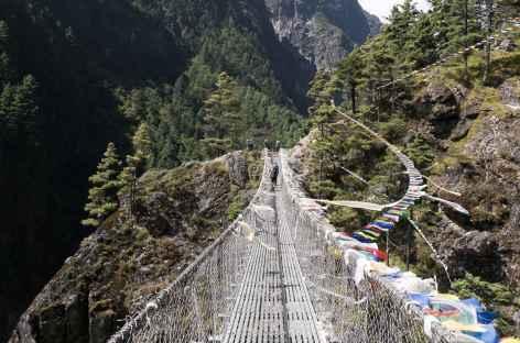 Pont avant la montée sur Namche - Népal -
