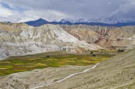 Au-dessus de Lo Manthang, Mustang - Népal -