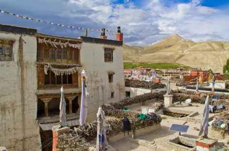 Sur les toits des maisons de Lo, Mustang - Népal -