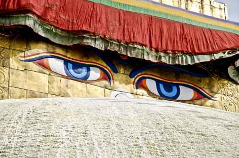 Les yeux de bouddha, l'emblème du Népal -