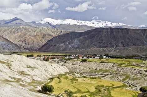 Lo Manthang, capitale de l'ancien royaume du Mustang (Népal) -