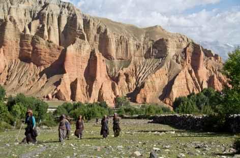 Villageoises à Dakhmar, Mustang, Népal -
