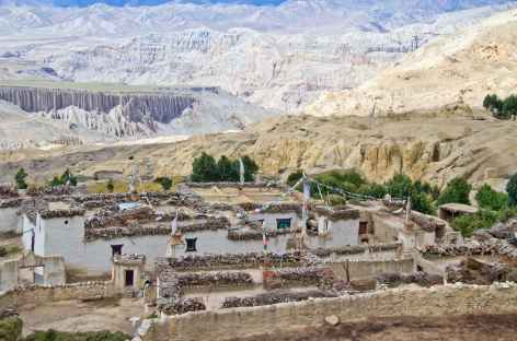 Village du Mustang, Népal -