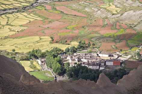 Village et champs de Dhi - Mustang, Népal -