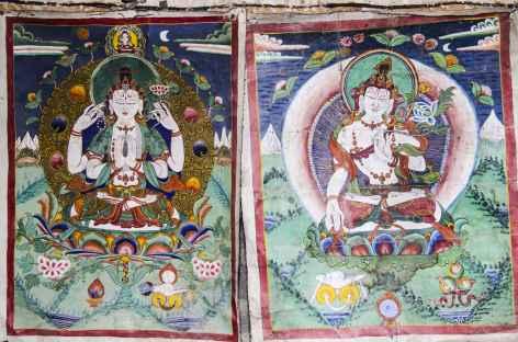 Thanka anciennes à Chödzong - Nepal -