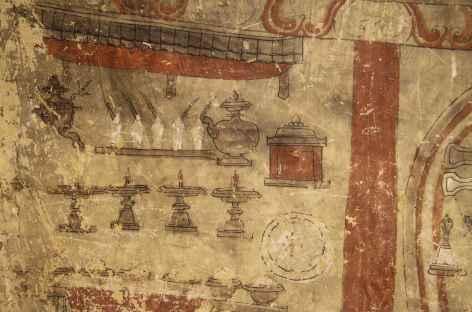 Anciennes Fresques à Konchok Ling - Nepal  -