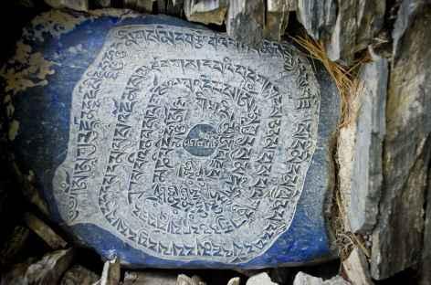 Détails d'une pierre à mani - Népal -