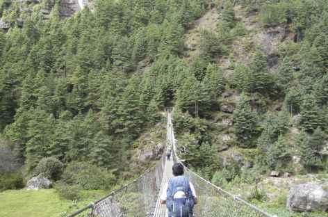 Pont suspendu - Népal -