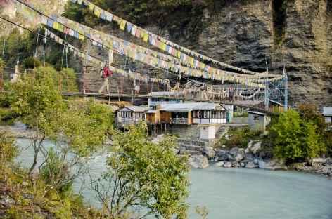 Pont suspendu vers Chame - Népal -