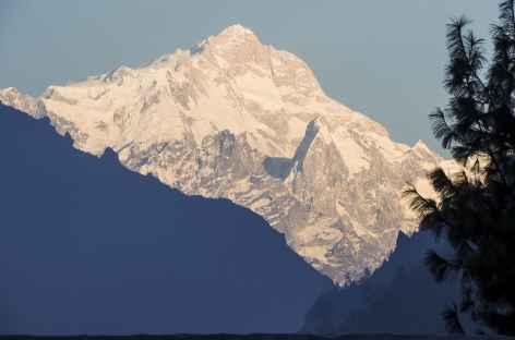 Le Manaslu depuis Chame - Népal -