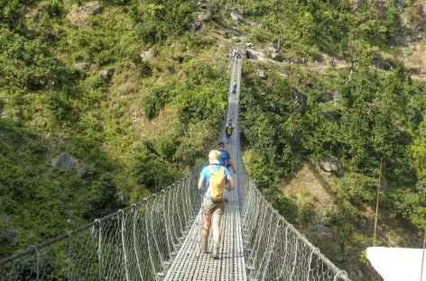 Les fameux ponts suspendus - Népal -