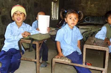 Ecole entre Sotti et Macha Khola - Népal -