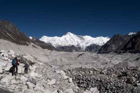 Traversée de la moraine après Dragnag - Népal -