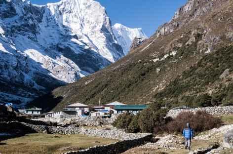 Thame, le monastère dans la montagne - Népal -