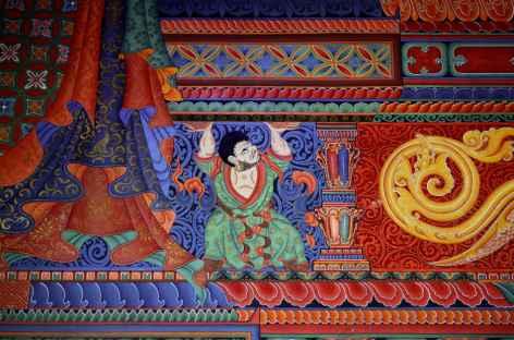Peinture à Lo Manthang -