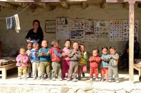 Ecole maternelle à Lo Manthang-Mustang-Népal -