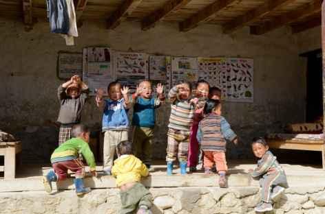 Ecole maternelle à Lo Manthang-Népal -