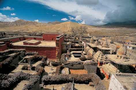 La ville fortifiée de Lo Monthang-Mustang-Népal -