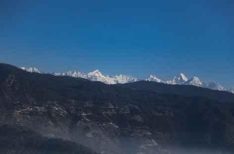 Juste après le décollage de Kathmandu, le massif du Langtang -