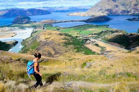 Randonnée de Diamond Lake, au-dessus du lac de Wanaka - Nouvelle Zélande -