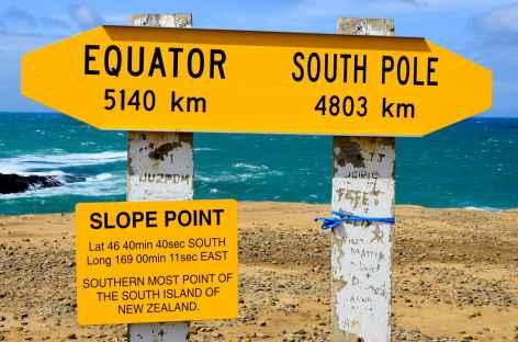 Slope Point, le point le plus méridional de l'île du Sud, côte des Catlins - Nouvelle Zélande -