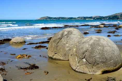Les célèbres boulders de Moeraki - Nouvelle Zélande -