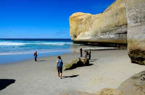 Plage de Tunnel Beach vers Dunedin - Nouvelle Zélande -